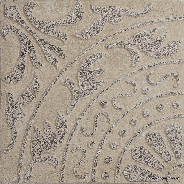 Loseta Flor De Lis Gris Plomo (40 x 40)