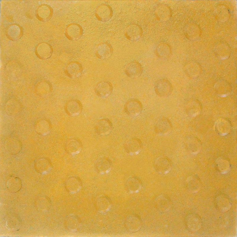 Alerta Trebolillos 40x40 Amarillo (Con cemento blanco)